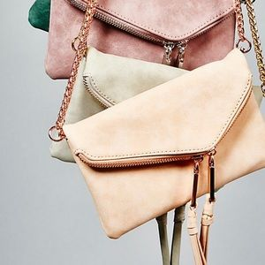 New! Free People Twin City Vegan Crossbody